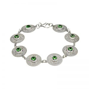 Boru Green Celtic Warrior Link Bracelet