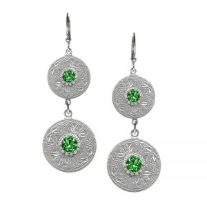 Boru Emerald Green Double Earrings