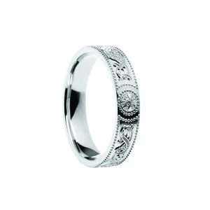 Ladies Celtic Warrior Band Sterling Silver