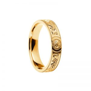 Ladies Celtic Warrior Band 10k Gold
