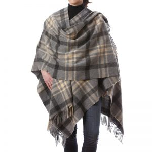 John Hanly Gray Lambswool Liz Cape