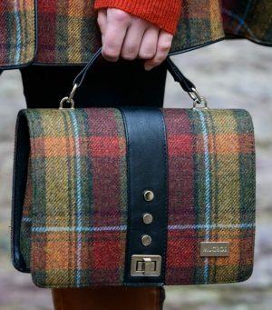 Mucros Rust Check Fiona Bag