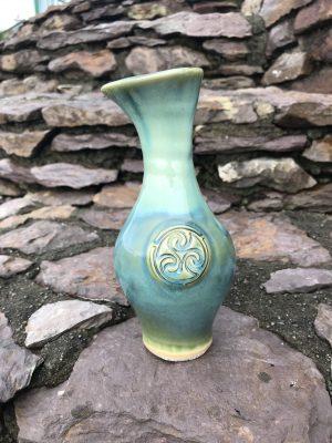 Colm De Ris Irish Pottery Green Medium Vase i2