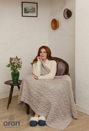 Aran Woolen Mills Super Soft Blanket