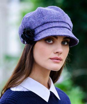 Mucros Ladies Lavender Newsboy Hat