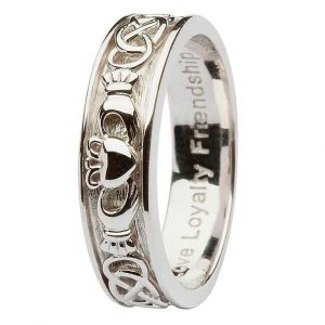 Shanore Ladies Silver Claddagh Band