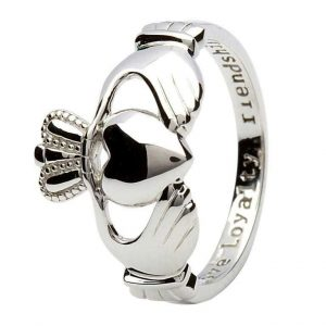 Shanore Sterling Silver Gents Claddagh Comfort fit Ring