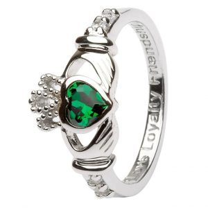 Shanore May Birthstone Claddagh Ring