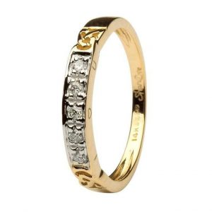 14K Gold Celtic I Love You Ring