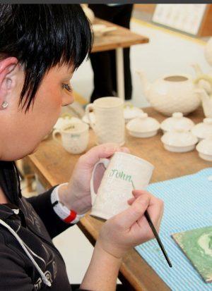 Belleek Personalized Name Mug