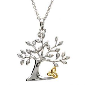 Silver Tree of Life Trinity Pendant
