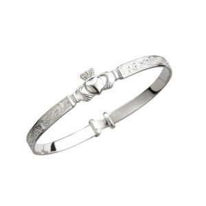Irish Claddagh Baby Bangle
