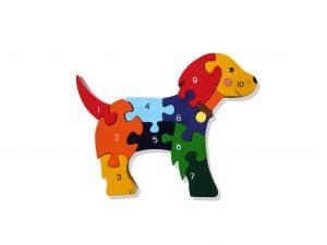 Number Irish Dog Jigsaw Puzzle