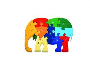 Number Irish Elephant Jigsaw Puzzle