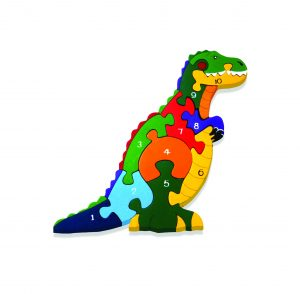 Number Irish T Rex Jigsaw Puzzle
