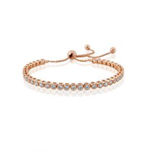 Waterford Crystal Rose Tennis Bracelet