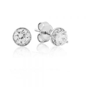 Waterford Crystal Sterling Silver Round Small Earrings