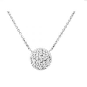 Waterford Crystal Sterling Silver Small Circle Pendant