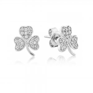 Waterford Jewellery Shamrock Stud Earrings