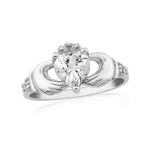 Waterford Crystal Sterling Silver Claddagh