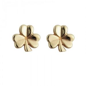 Solvar 14k Gold Shamrock Earrings
