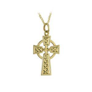 Solvar 9k Gold Celtic Irish Cross Pendant