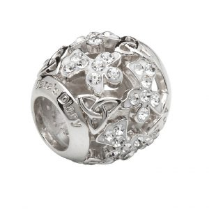 Sterling Silver Trinity Angel Bead Swarovski Crystals