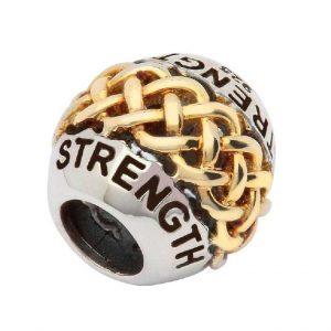 Tara's Diary Sterling Silver Strength Celtic Knot Bead