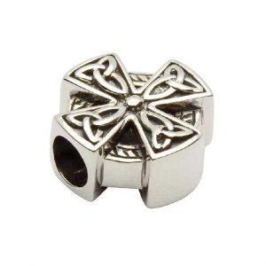 Tara's Diary Sterling Silver Celtic Trinity Cross Bead