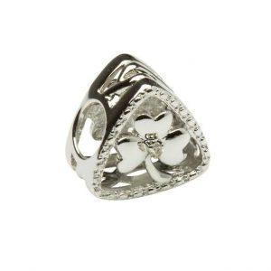 Tara's Diary Diamond Shamrock Charm Bead
