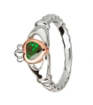 House of Lor Silver Irish Gold Claddagh Ring