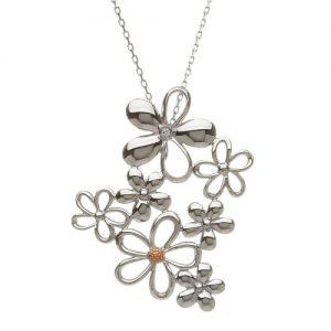 House of Lor Petal Sterling Silver Bouquet Pendant