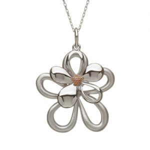 House of Lor large Sterling Silver Petal Pendant