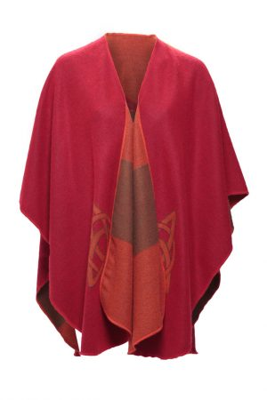 Jimmy Hourihan Red Multi Color Irish Shawl Cape