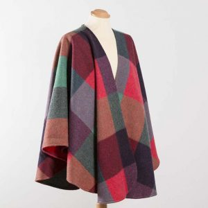 John Hanly Lambswool Irish Multi Colour Sue Cape - 619