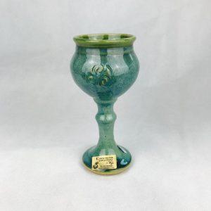 Colm De Ris Green Wine Goblet