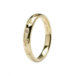 Shanore Gold Diamond Trinity Band