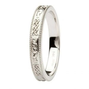 Shanore White Gold Claddagh Band