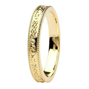 Shanore Gold Claddagh Wedding Band
