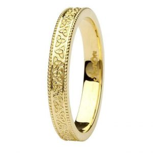 Shanore Trinity Knot Gold Wedding Ring