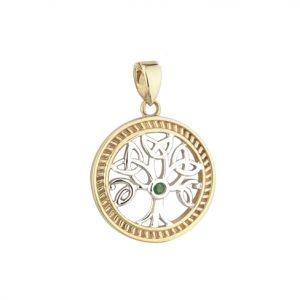 Solvar 14k Gold Tree of Life Charm S80230