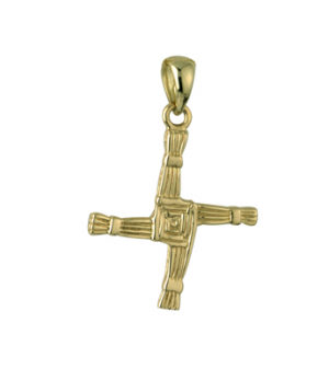 Solvar 9k Gold St Brigid Cross Charm