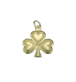 9k Gold Small Shamrock Charm s8124