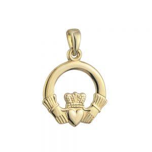 Solvar 9k Gold Medium Claddagh Charm S8289