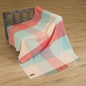 John Hanly Cashmere Pink Blanket Throw