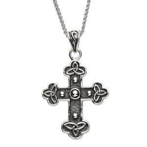 Silver Celtic Trinity Knot Cross