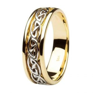 Gents Gold Wedding Ring Celtic Knot