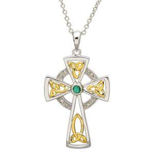 Shanore Diamond Emerald Cross