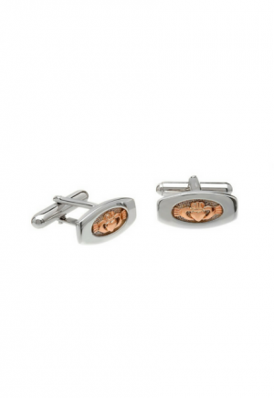 House of Lor Claddagh Rose Gold Cuff Links