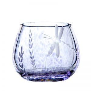 Wild Heather Irish Glass T Light Votive